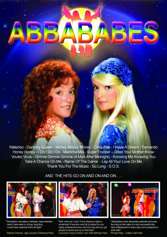 Abba tribute act by the Abbababes