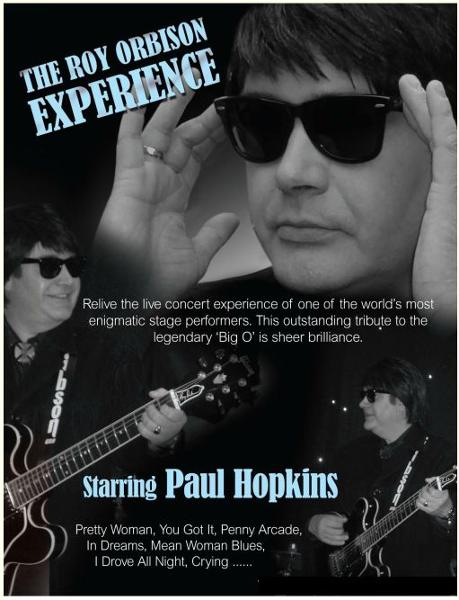 Roy Orbison tribute act by Paul Hopkins