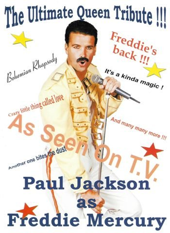 Freddie Mercury tribute act by Paul Jackson